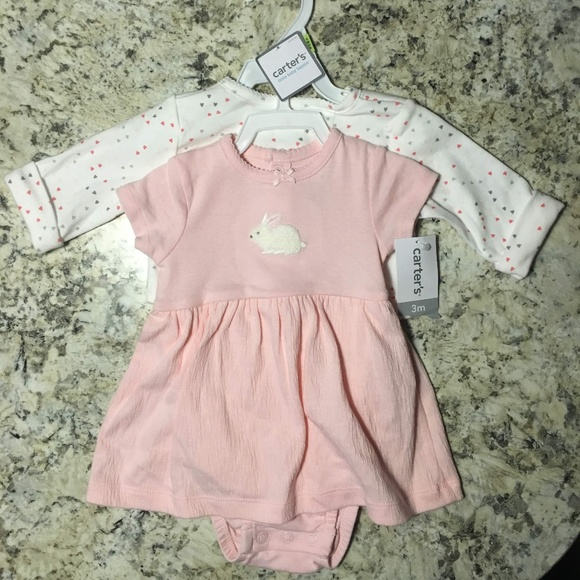 dd4293fea Carter's Dresses | Carters Onesie Dress With Cardigan Set | Poshmark